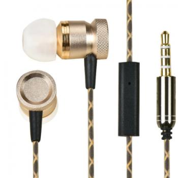 重低音运动跑步带麦手机电脑通用入耳式耳塞式线控金属耳机 批发