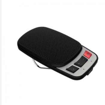 黑色车载蓝牙免提通话音箱 可插卡播放音乐蓝牙音箱