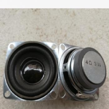 厂家现货供应52MM方形外磁喇叭2寸泡边4欧3W高品质音响扬声器