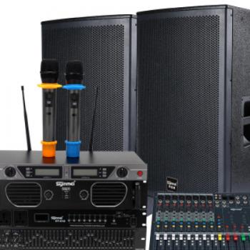 酒店宴会厅专用音响套装 声音美515大型专业演出音响设备厂家供应