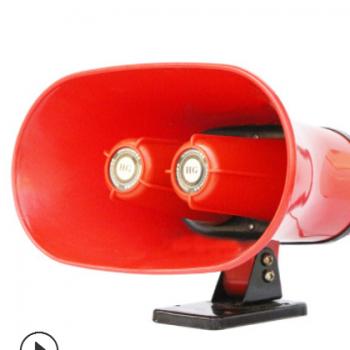 批发宏光车载608大功率宣传广告喊话器地摊大喇叭双音号桶扬声器