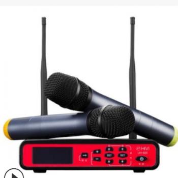 Hivi/惠威 uh-820无线U段话筒专业会议家用一拖二KTV麦克风