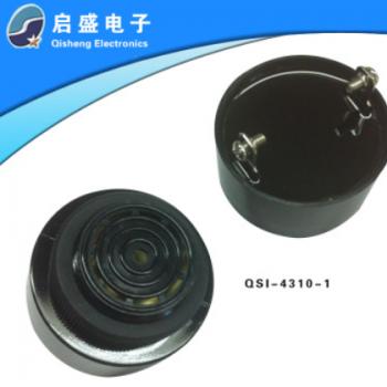 厂家批量供应直流4310蜂鸣器 黑壳 滴滴声 高分贝12V有源 品质好