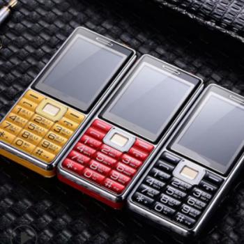 新款 全语音王 强光大手电 双卡双待大字大声直板按键老人手机