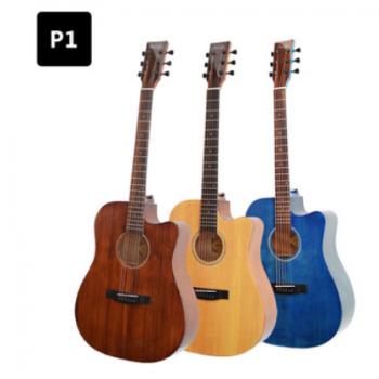 嗨籁HiLight P1 41寸云杉沙比利擦色单板民谣吉他 电箱木吉他