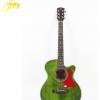 40寸云杉沙比利复古风民谣吉他 绿色