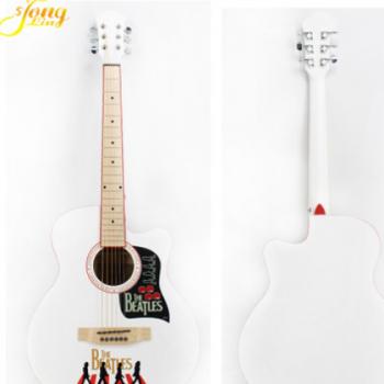 40寸 民谣木吉他经典吉他 复古 新手 初学者吉他 白色