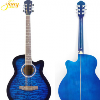40寸 民谣木吉他经典吉他 复古 新手 初学者吉他 蓝色