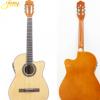 40寸古典 吉他 实木吉他 演奏初学者木吉他带拾音器