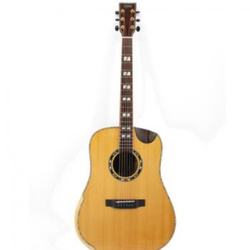 GW 41寸红松玫瑰木全单手工虎纹枫木 民谣吉他 木吉他