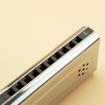 EASTTOP10孔铜座板双面双调口琴(纸盒装) T10-2 (外贸)