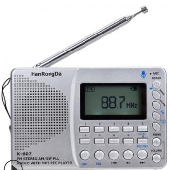便携式调频插卡收录机多波段FM/SW/AM中波半导体收音机