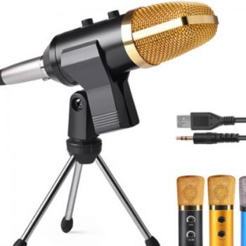 厂家直销电容麦克风带混响调节主播直播话筒K歌YY喊麦录音设备