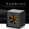 话筒标台标麦牌logo定制LOGO媒体采访向日葵亚克力麦克风四方盒套