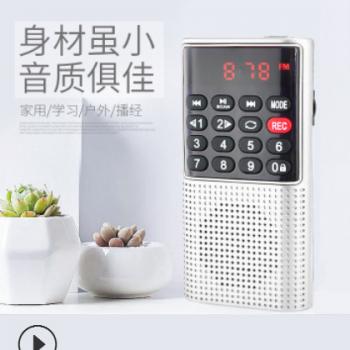 【新品】快乐相伴迷你录音机L-328 数字点歌带插卡【支持定制】