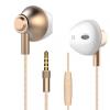厂家直销兰士顿M420重低音金属耳塞式耳机圆线带麦通用耳机