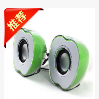 大量批发 苹果形音箱 笔记本小音箱 时尚 七彩 炫彩USB小音箱