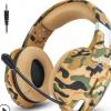 跨境新品因卓G1500迷彩色耳机头戴式电脑游戏吃鸡耳麦手游PS4耳机