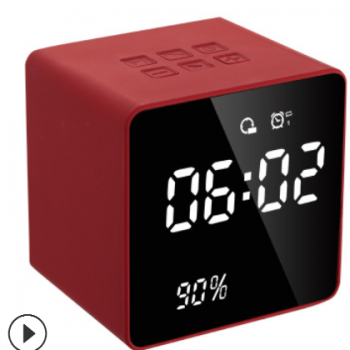 厂家新款A11跨境蓝牙迷你时钟音箱双闹钟音乐时钟音响