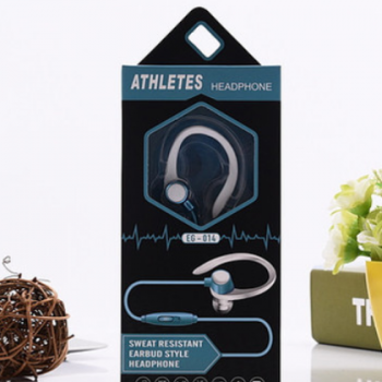 新款CY-014运动耳挂式手机耳机 带麦线控耳机