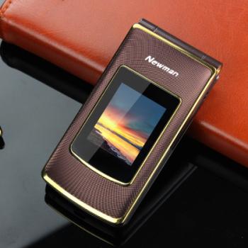 全新NEWMAN纽曼V9手机 双卡双待 超长待机 内外双屏 翻盖手机