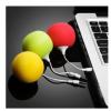 供应苹果手机迷你音响球形海绵音响 波波球手机小音箱 3.5接口通用