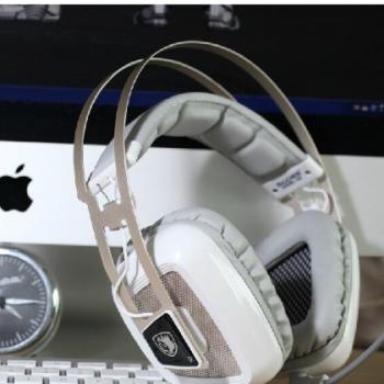 SADES 赛德斯A8震动耳机头戴式usb发光电脑游戏耳