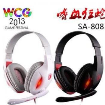 SADES 赛德斯SA-808电脑耳机头戴式游戏耳机发光耳