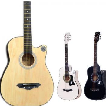 厂家38寸简约款民谣吉他初学入门木吉他练习椴木吉它批发