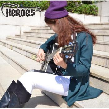 HEROES 英雄40寸初学吉他入门民谣吉他缺角木吉他
