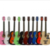 厂家38寸时尚款民谣吉他初学入门木吉他椴木练习吉它批发