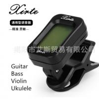 跨境专供 英文版吉他调音器尤克里里贝斯小提琴校音器调谐器配件