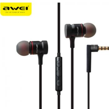 跨境专供 AWEI用维70TY入耳式运动耳机头戴游戏面条耳机 工厂批发