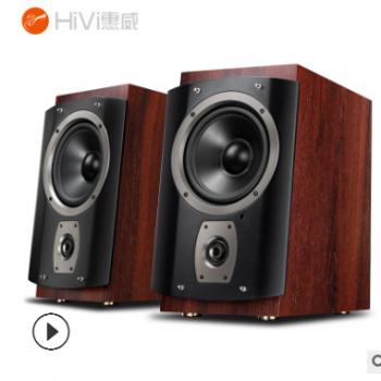 HiVi/惠威 RM6木质蓝牙音箱 多媒体重低音台式电脑电视音响 正品