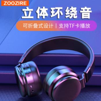 跨境专供爆款E3头戴式无线蓝牙耳机可折叠TF插卡立体声运动耳机