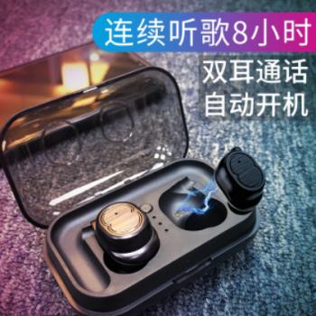 厂家直销跨境tws车载耳机触控充电仓无线运动双耳蓝牙耳机5.0