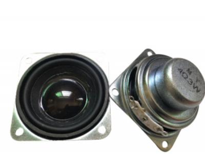 源头厂家直销1.5寸40MM方形双磁PU4欧3瓦蓝牙音响喇叭全频扬声器