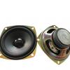 源头厂家现货3寸方形40磁泡边黑亮帽4欧5W全频喇叭77MM音响扬声器