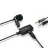 领夹式无线麦克风一拖二手机录音吃播专用单反相机户外降噪话筒