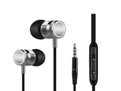2019新款金属耳机入耳式带麦手机耳机通用耳机OEM定制外贸出口