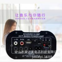5BF低音炮音响主板内置蓝牙收音功能带显示重低音改装音箱功放板