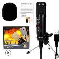 厂家直销电脑K歌直播电容麦克风 USB手机录音BM900话筒主播麦克风