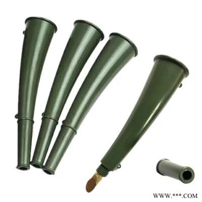 训练信号喇叭 羊角喇叭 模型信号喇叭  军绿色小喇叭