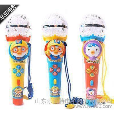 韩国**韩版小企鹅儿童卡通麦克风玩具 卡拉OK话筒