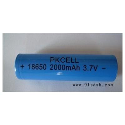 厂家供应锂电池 18650电池2000mah 3.7V对讲机专用充电电池