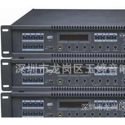 PIPOWER合并式定压功放TPA-100U,内置收音MP3播放,U盘广播功放
