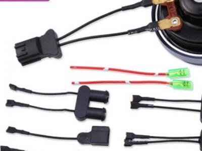胜之星汽车蜗牛喇叭专用免破线喇叭无损改装转换插头继电器线