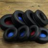 乾音耳机配件加厚黑蓝红色网布圆形套皮安装头戴耳机海绵套EARPAD