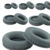 直销批发零售加厚灰色圆形蛋白皮记忆海绵头戴式耳机海绵套耳垫