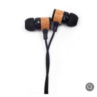 倍恩特工厂定制有线耳机 3.5mm木头铝壳手机有线耳机带麦克风